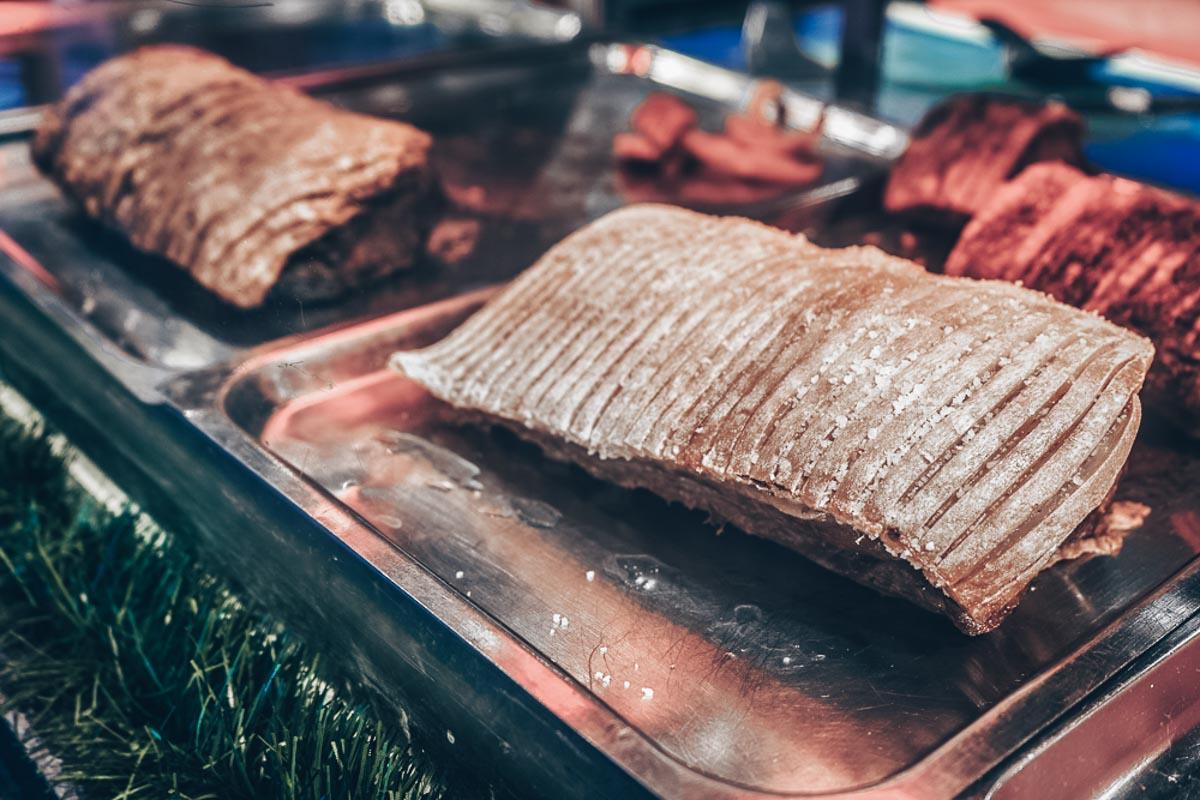 Try a flaeskesteg sandwich at the Christmas markets in Copenhagen!