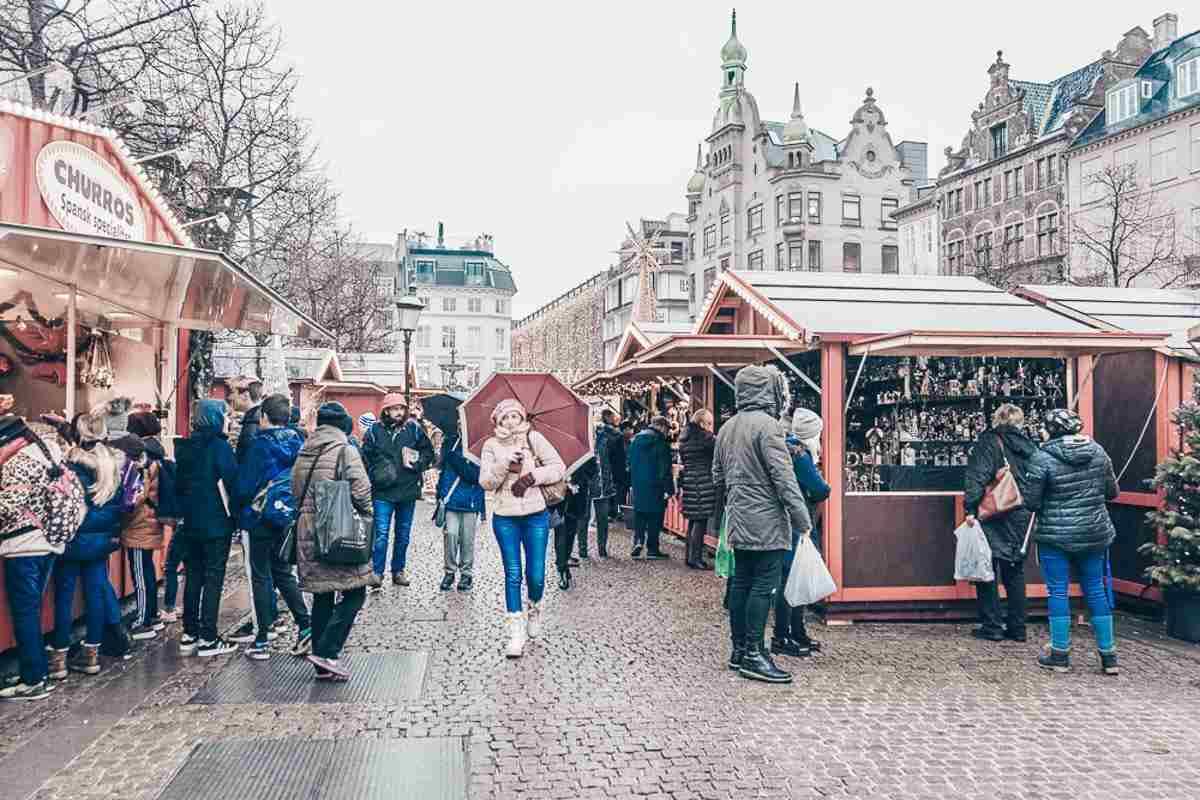 Hojbro Christmas market in Copenhagen