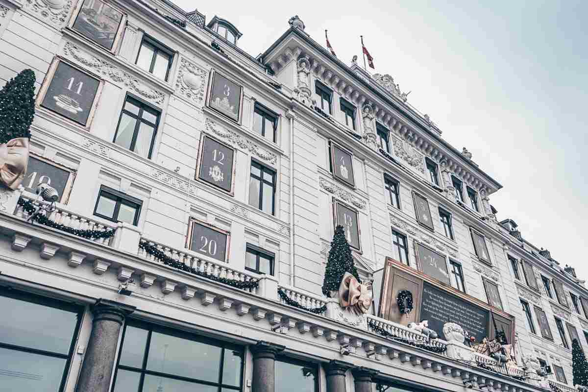 Hotel D'Angleterre in Copenhagen decorated for Christmas