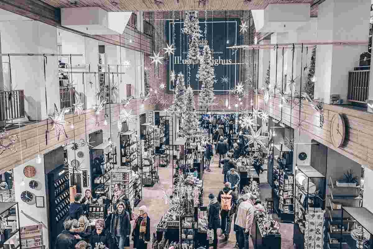 Illums Bolighus in Copenhagen decorated for Christmas