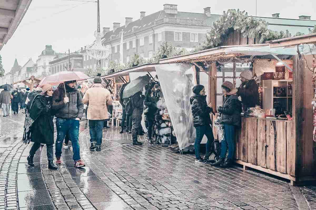 The Christmas market at Kongens Nytorv in Copenhagen