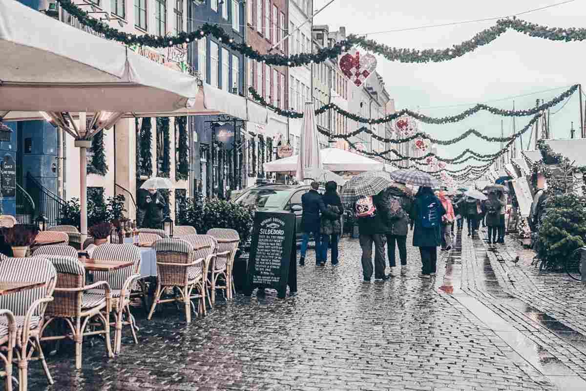 Nyhavn Christmas market in Copenhagen