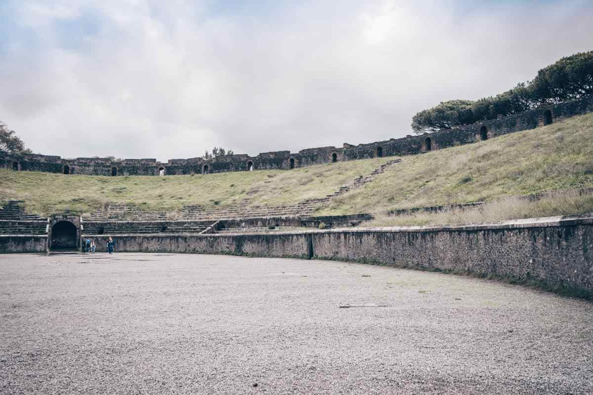 Pompeii Guided Tour: Interior of the amphitheater at Pompeii Archaeological Park.
