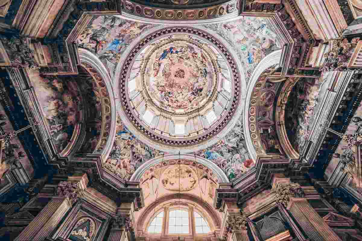 Naples Cathedral: The swirling dome fresco of the Chapel of San Gennaro. PC: Isogood_patrick/shutterstock.com