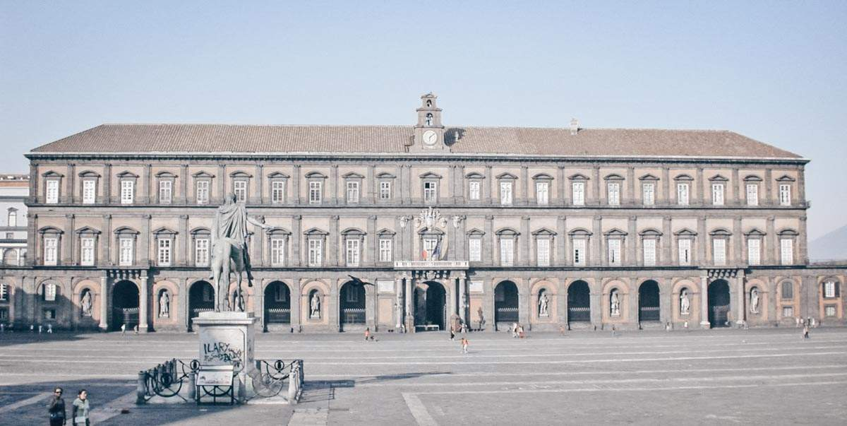 24 Hours in Naples: Facade of the Royal Palace of Naples