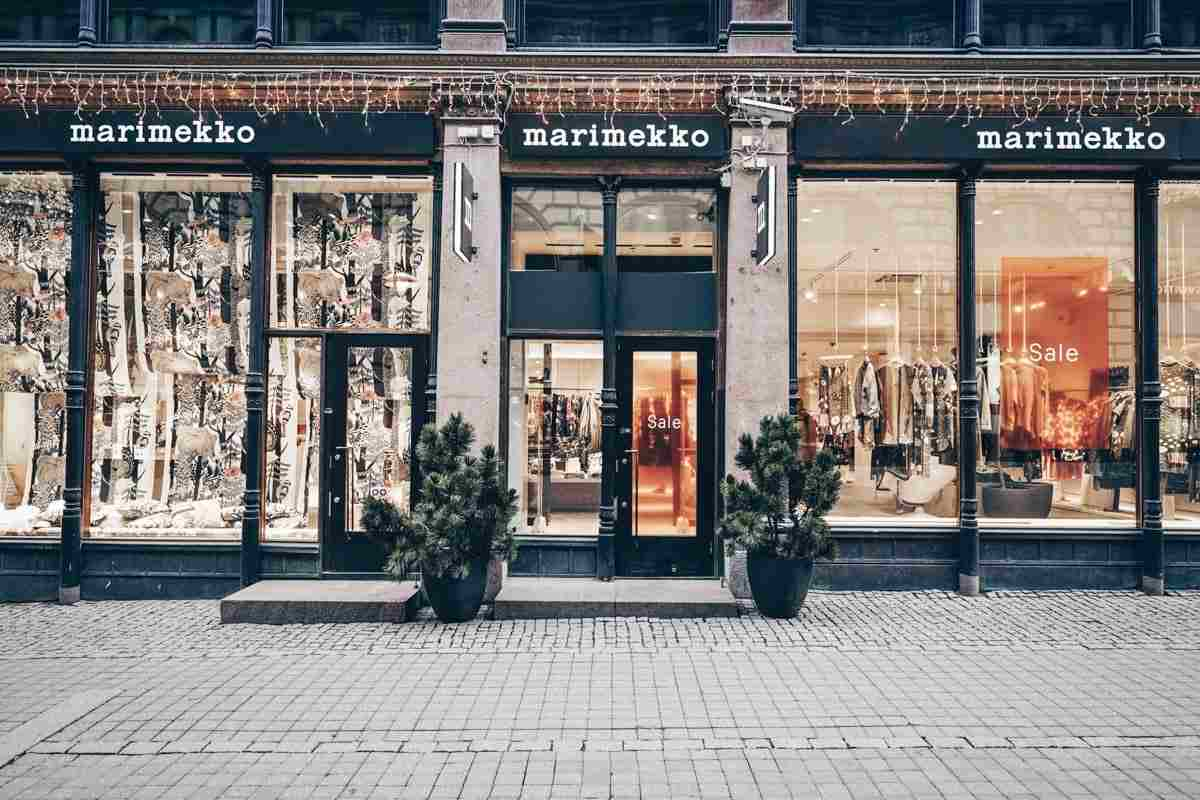 Helsinki Design District: The exterior of the flagship Marimekko Store