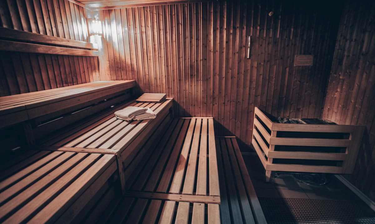 Things to do in Helsinki: Interior of a traditional wooden sauna