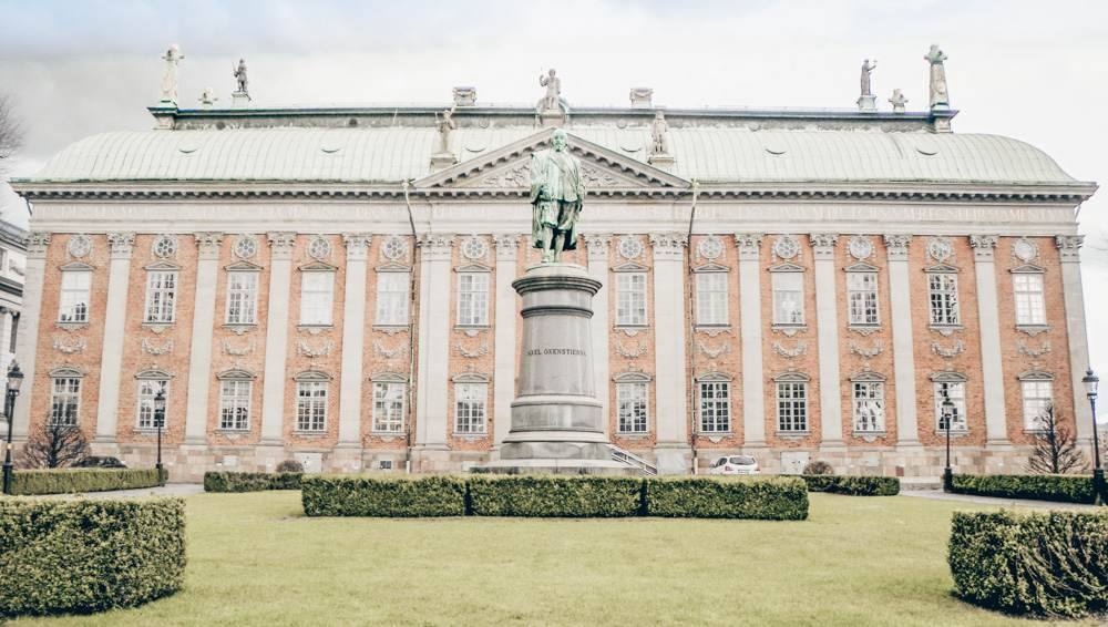 Stockholm architecture: Beautiful Baroque facade of the 17th century House of Nobility