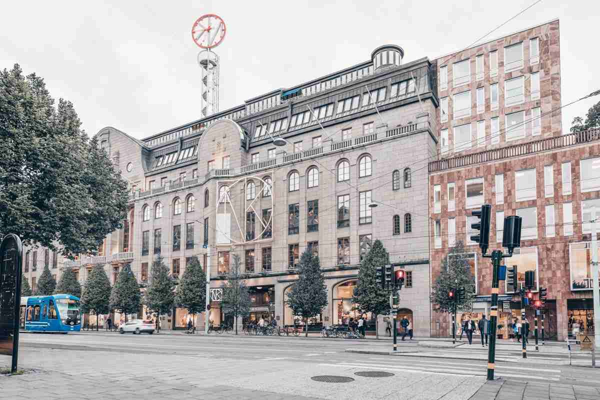 Stockholm shopping: Exterior of the prestigious Nordiska Kompaniet (NK) department store. PC: Tommy Alven/shutterstock.com