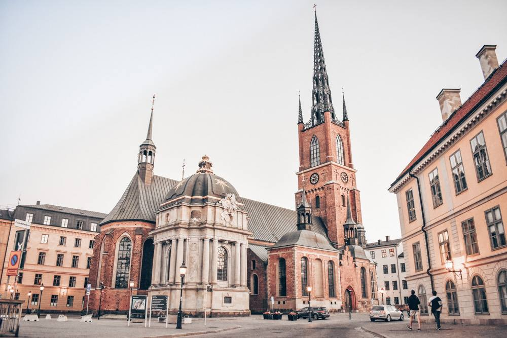 Stockholm Churches: Riddarholm Church with its distinctive cast-iron lattice tower. PC: Cooler8/shutterstock.com