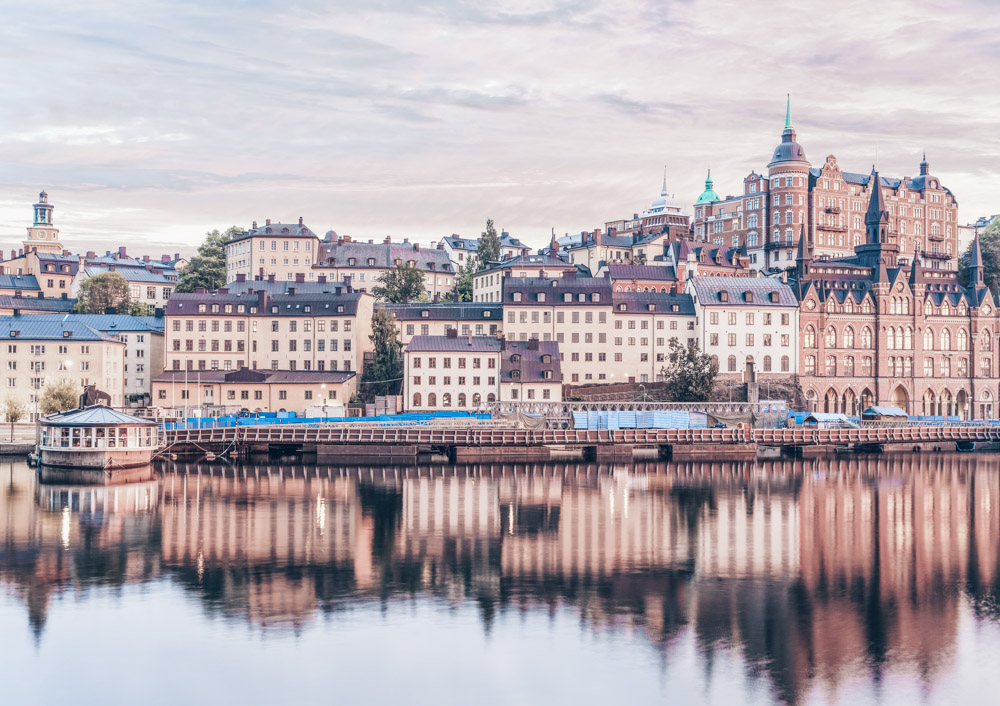 Things to do in Stockholm: Panoramic view of the Södermalm district at sunset