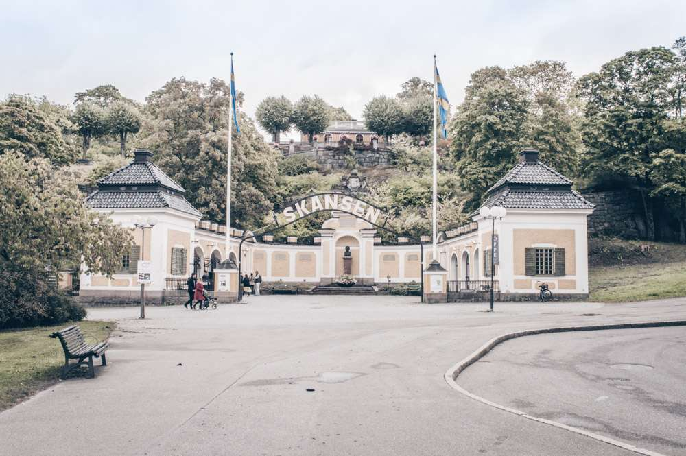 Stockholm Museums: Entrance of Skansen, the world's oldest open-air museum