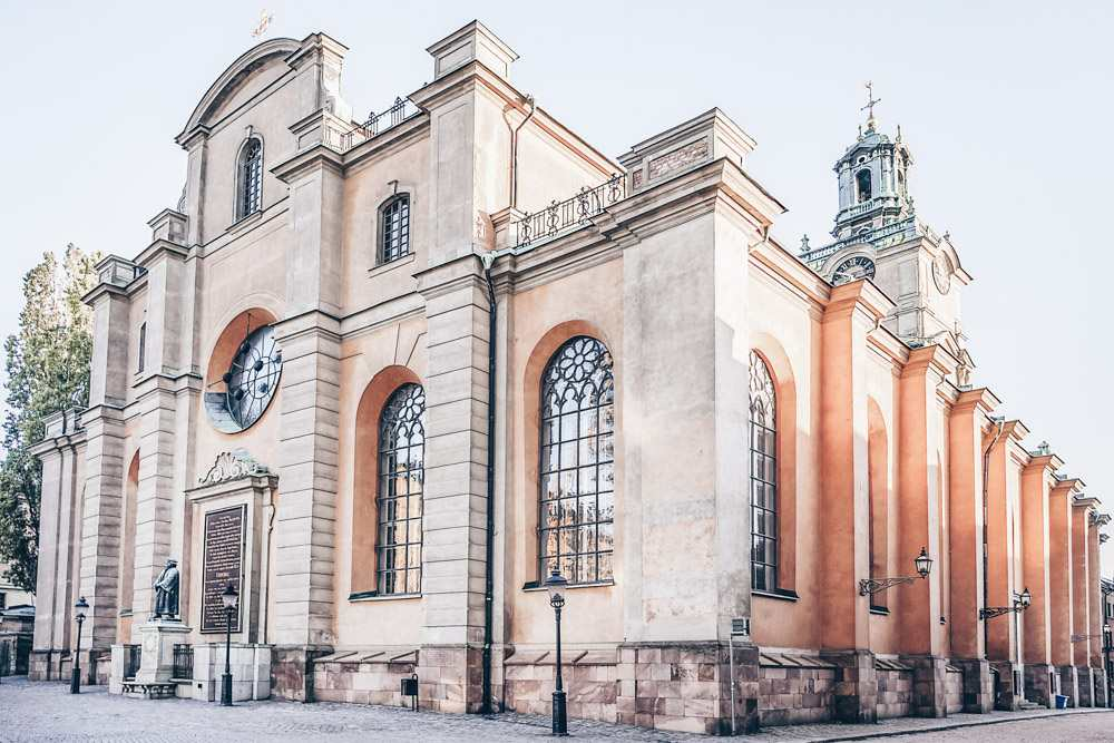 Stockholm Churches: Italian Baroque exterior of the 13th century Stockholm Cathedral