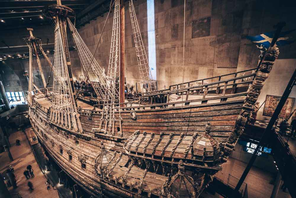 Stockholm Vasa Museum: The richly ornamented 17th century warship 'Vasa'. PC: Matej Kastelic/shutterstock.com