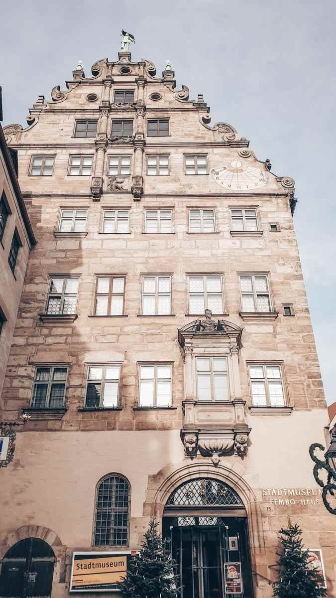 Things to see in Nuremberg: The beautifully preserved 16th century facade of the Fembo House