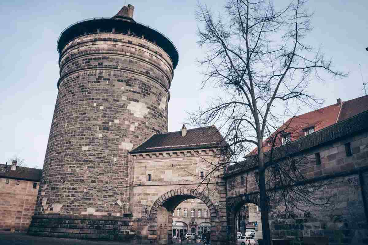 Visit Nuremberg: A chunky defensive tower and part of the Old Town walls