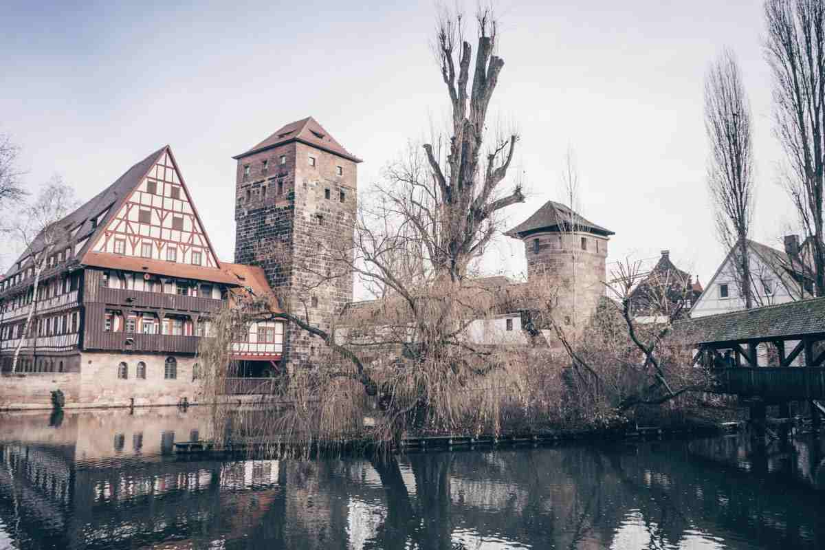Things to see in Nuremberg: The picturesque Hangman's Bridge and the half-timbered former wine depot