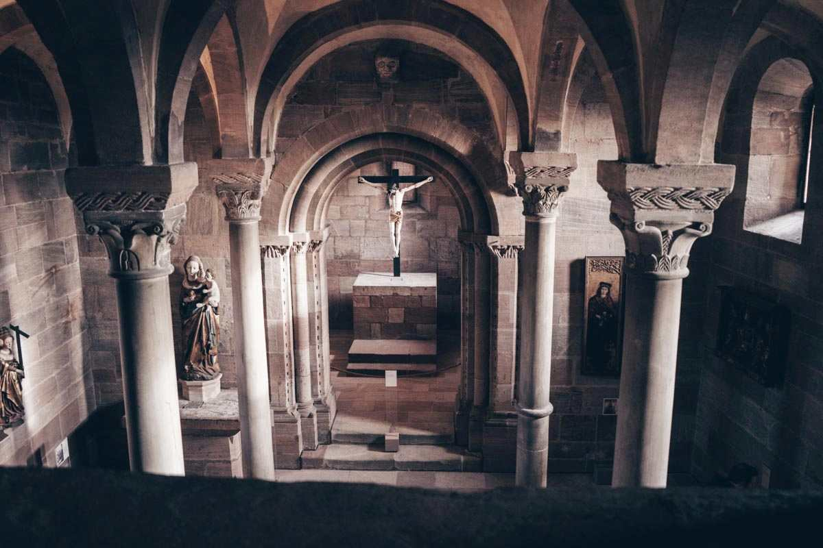 Nuremberg attractions: A Romanesque style chapel at the Imperial Castle