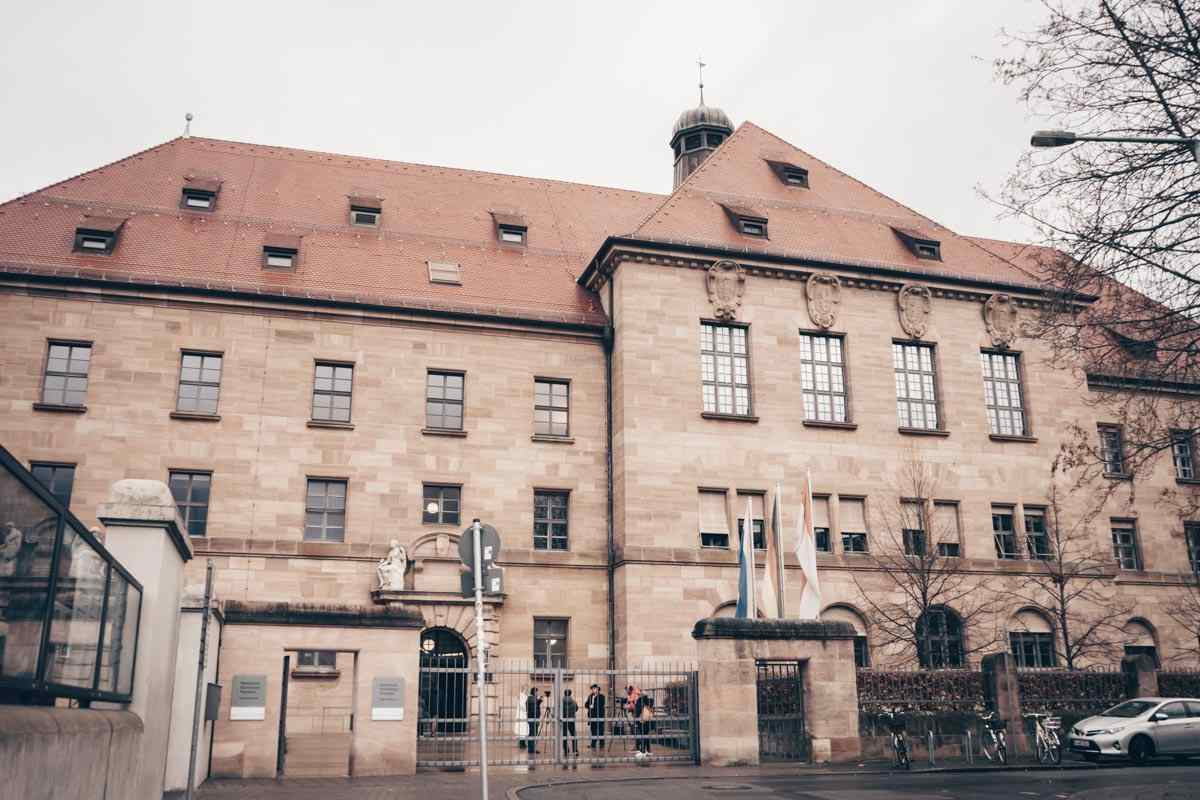 Nuremberg attractions: Exterior of the Palace of Justice, home to the Memorium Nuremberg Trialss