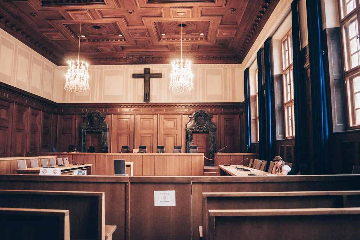 Memorium Nuremberg Trials: The famous Courtroom 600, where the Nuremberg Trials took place