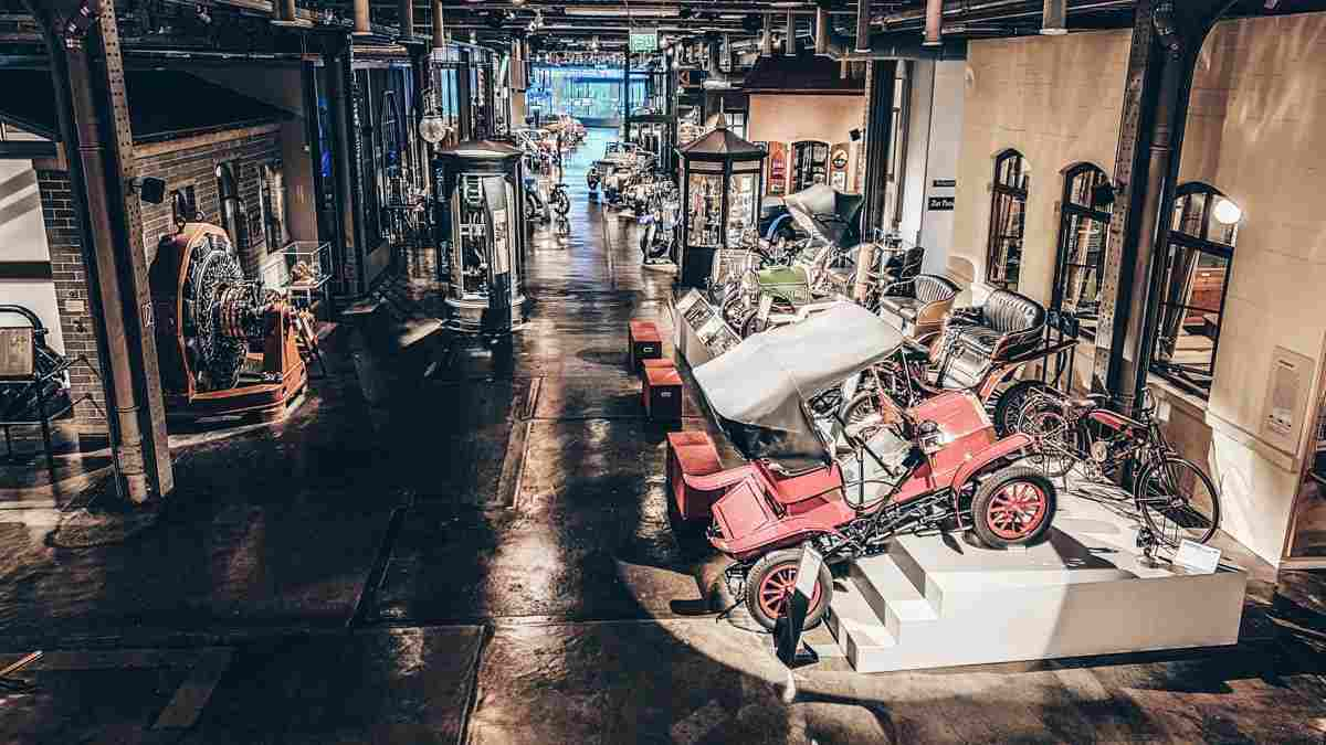 Nuremberg attractions: Vintage cars, steam engines, bicycles and other gadgets on display at the Museum of Industrial Culture