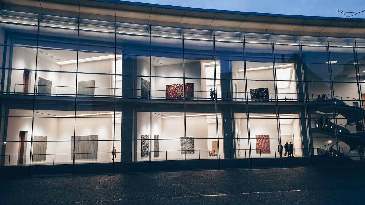 Nuremberg attractions: The sleek glass facade and innovative design of New Museum