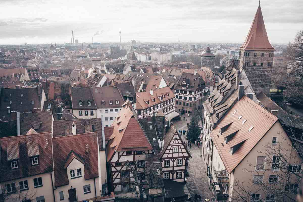 Things to do in Nuremberg: Panoramic view of the Nuremberg Old Town from the Imperial Castle