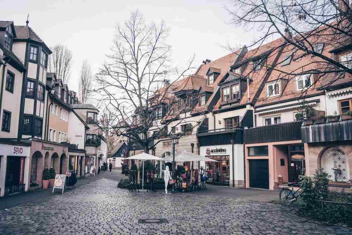 Must-see Nuremberg: An elegant cobblestone courtyard in the Nuremberg Old Town