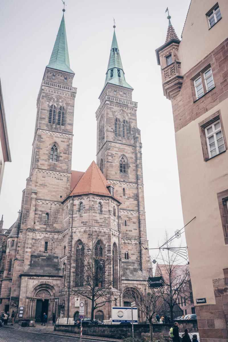 Must-see Nuremberg: The twin spires of St. Sebaldus Church, the oldest in the city.