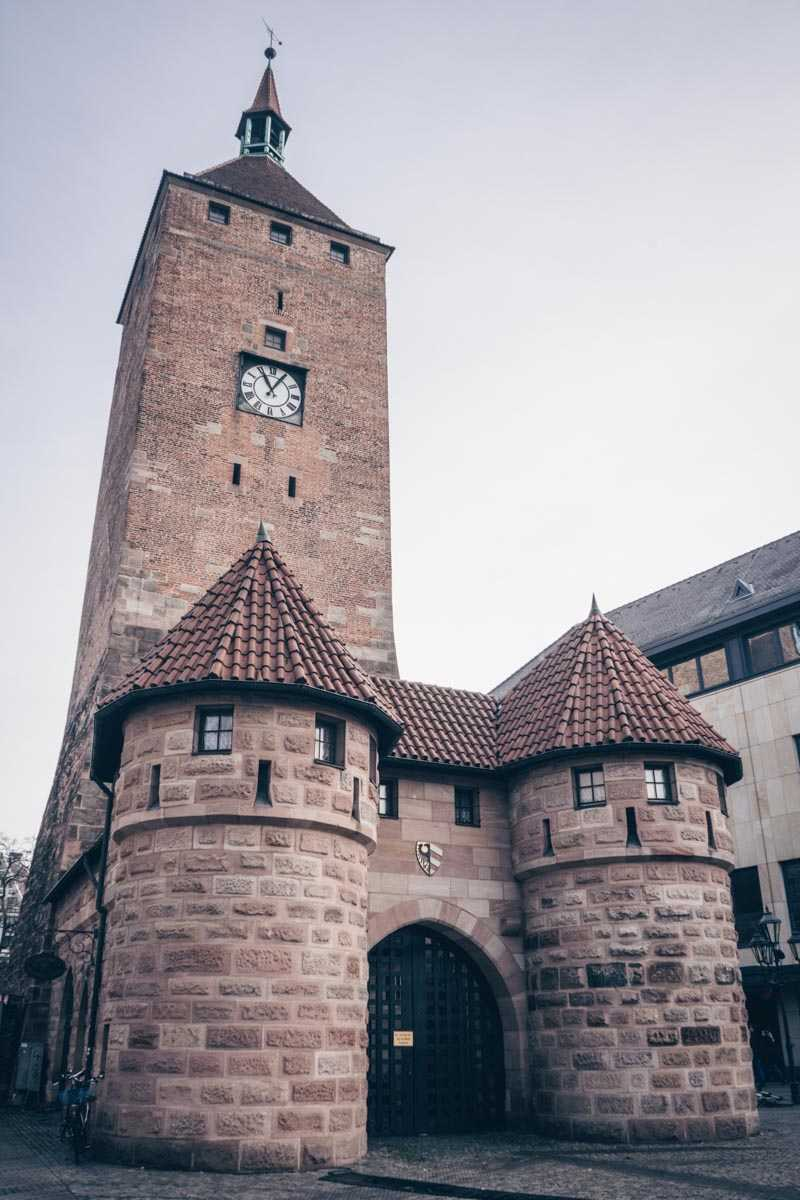 Nuremberg attractions: The White Tower, part of the original 13th century city defenses.