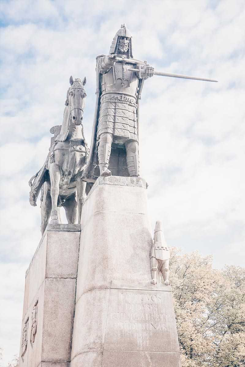 Things to do in Vilnius: Gediminas Statue, which depicts  the former Grand Duke of Lithuania and legendary founder of Vilnius.