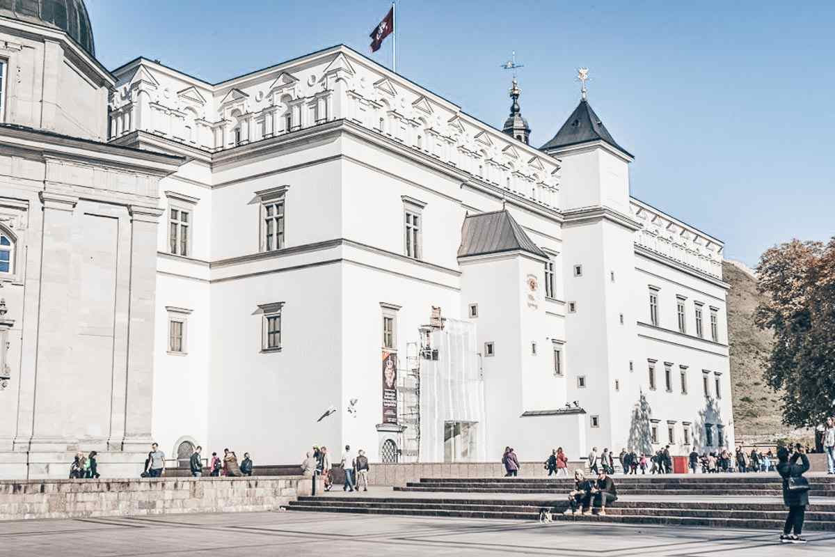 Things to do in Vilnius: Exterior of the Palace of the Grand Dukes of Lithuania