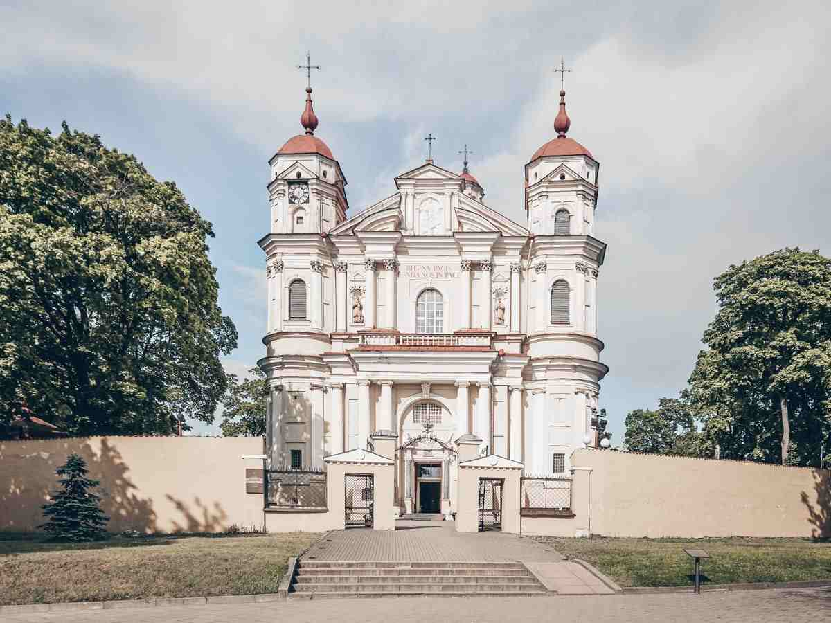 Vilnius churches: Exterior of the Church of Sts. Peter and Paul