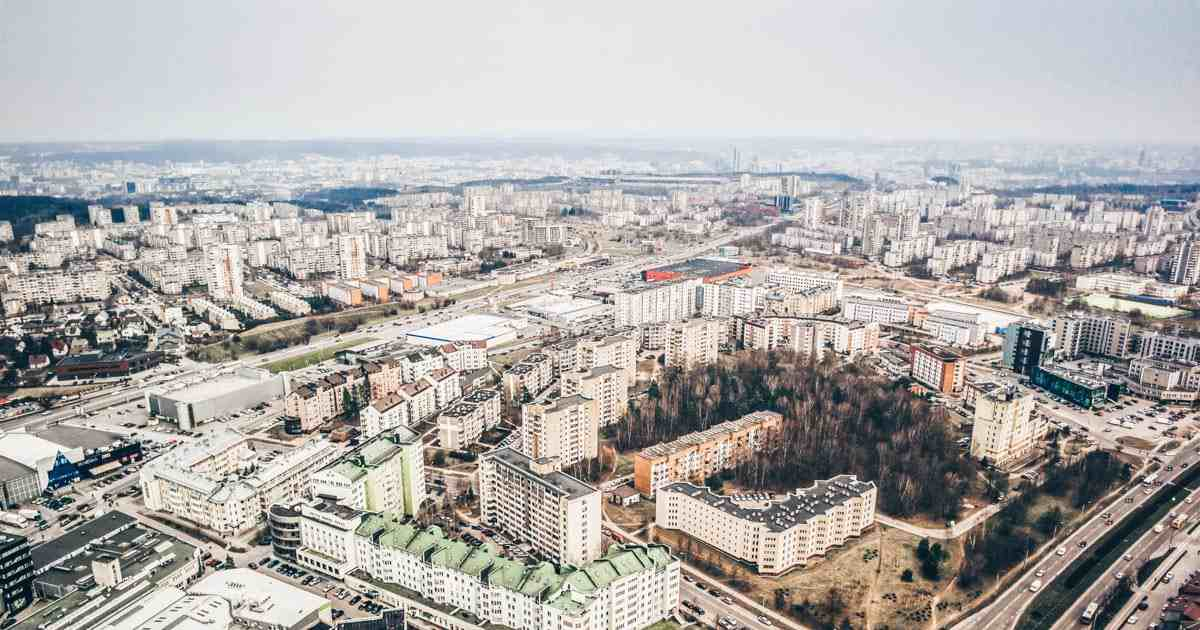 Things to do in Vilnius: Panoramic view of Vilnius and surroundings from the TV Tower