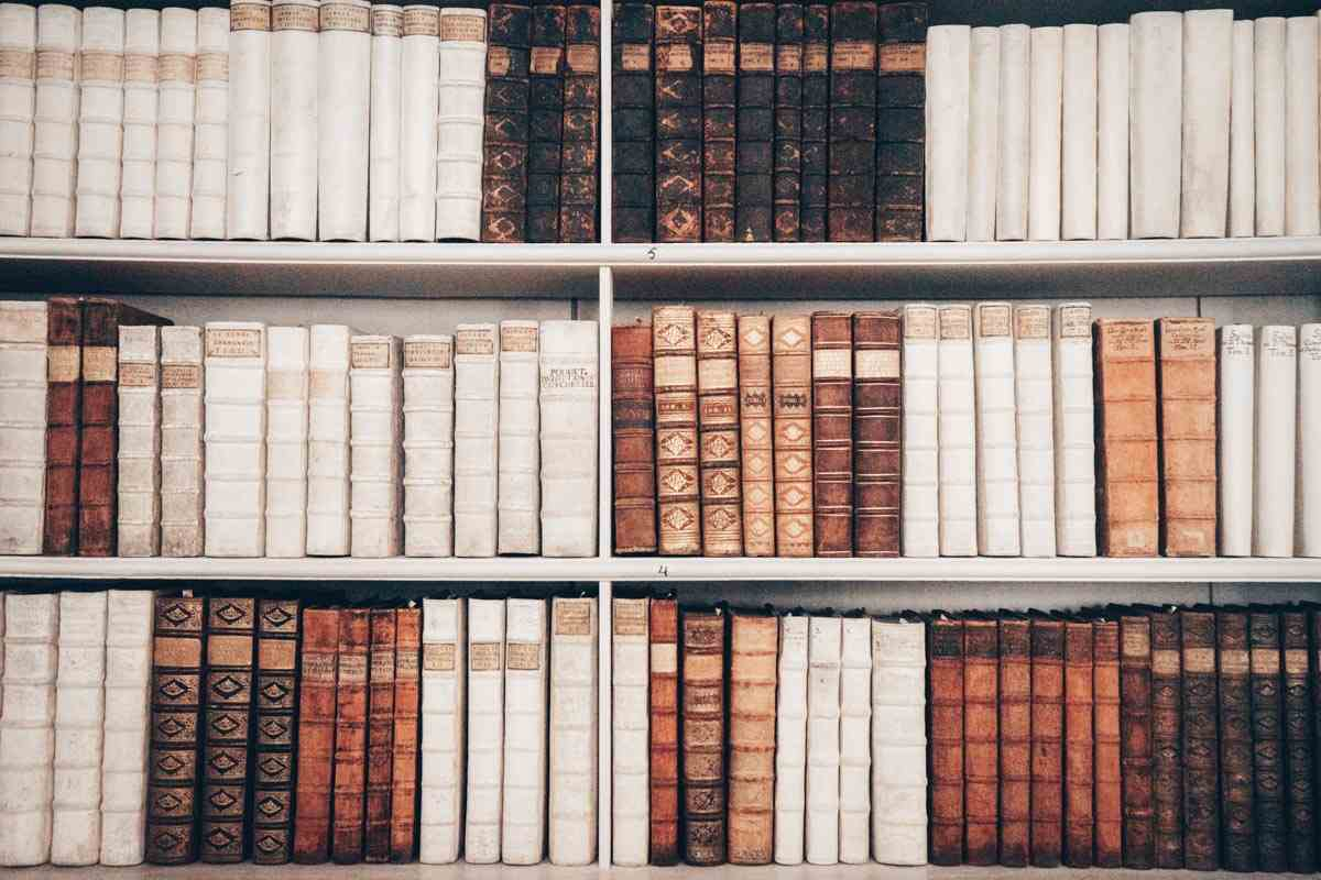 Styria attractions: Old theological volumes inside the Admont Abbey Library