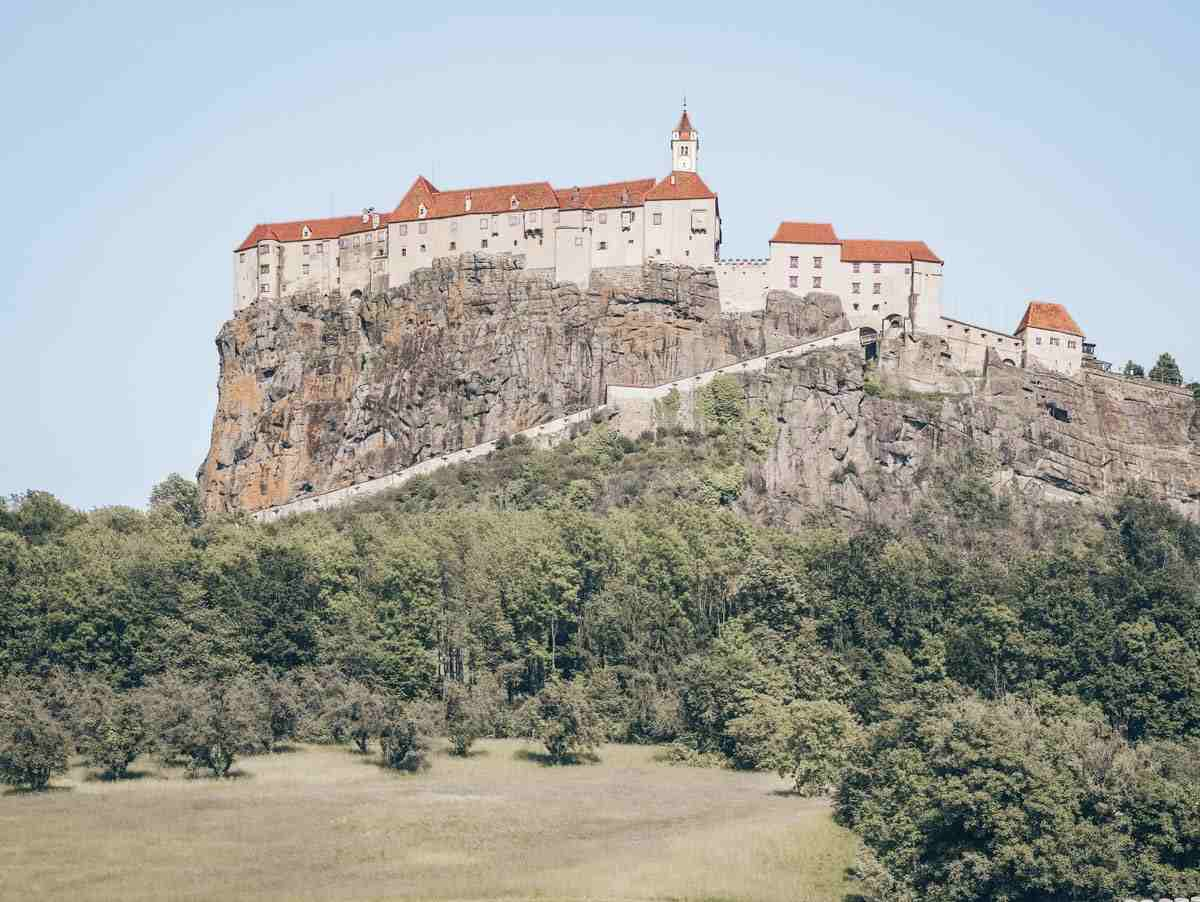 Beautiful Castles in Austria: The picturesque Riegersburg Castle which sits on a steep crag of volcanic basalt
