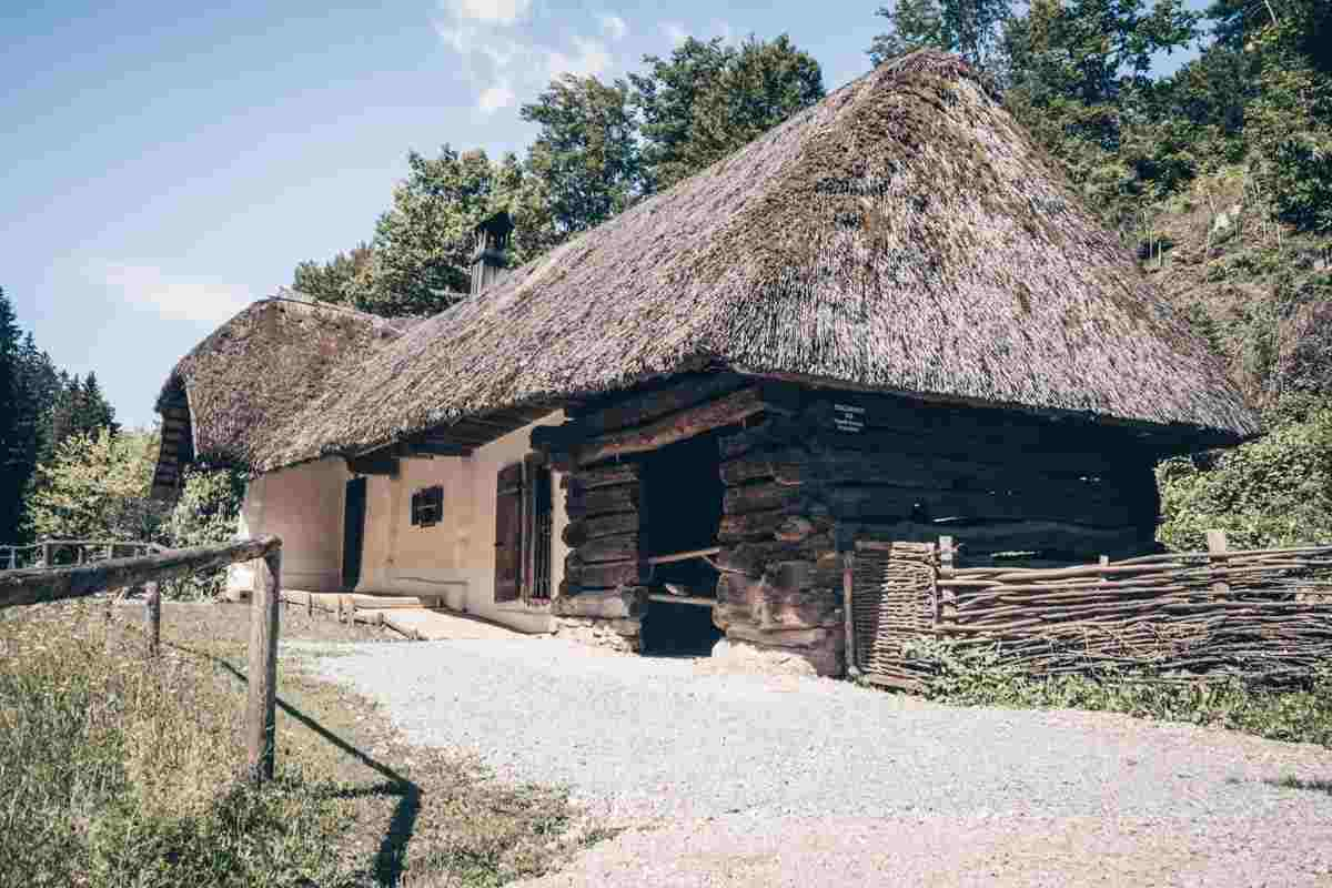 Day Trips From Graz: Traditional hut at the Austrian Open-Air Museum