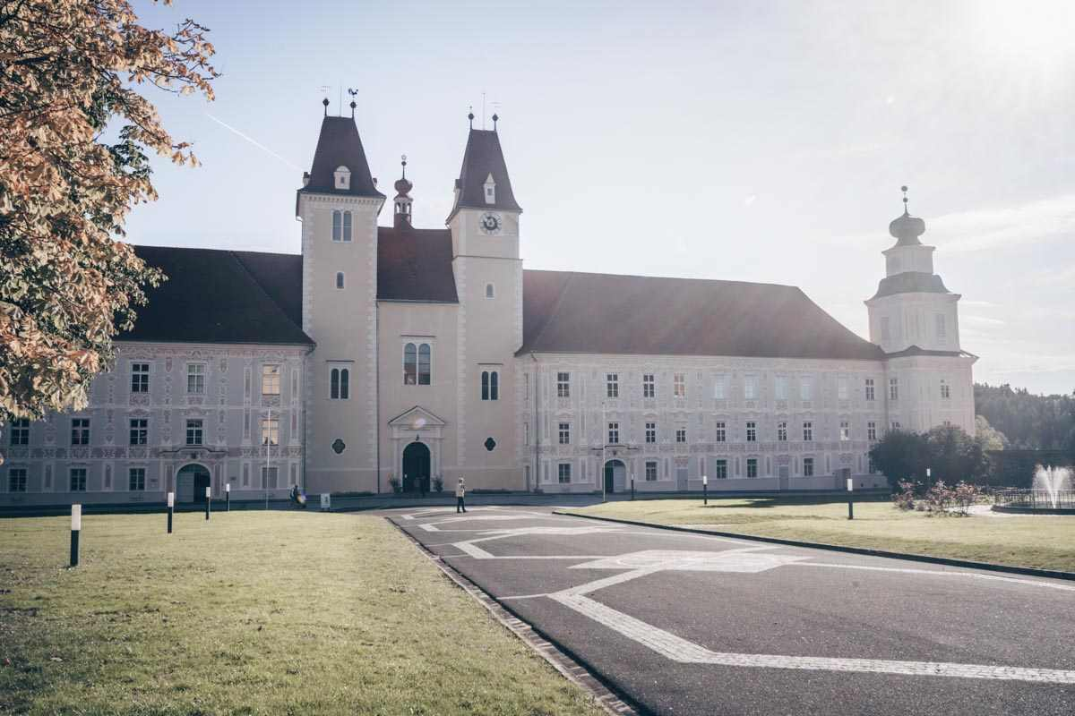 Styria attractions: Exterior of the imposing Vorau Abbey