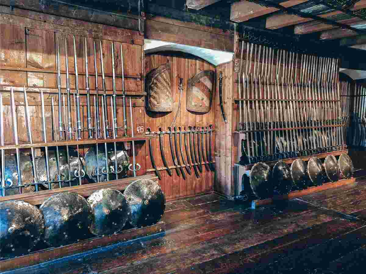 Must-see Graz: 16th-century Hungarian sabers and shields inside the Styrian Armoury