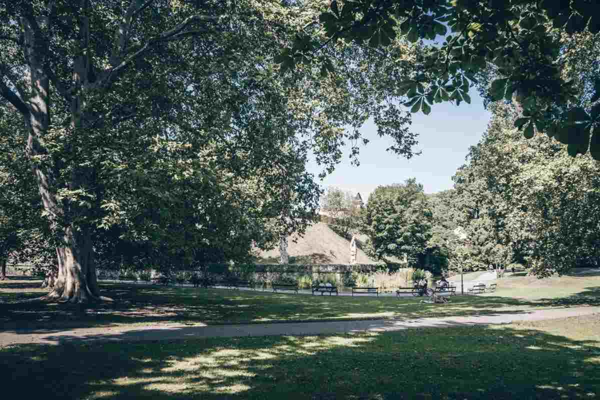 Places to visit in Graz: The grassy lawns of the City Park