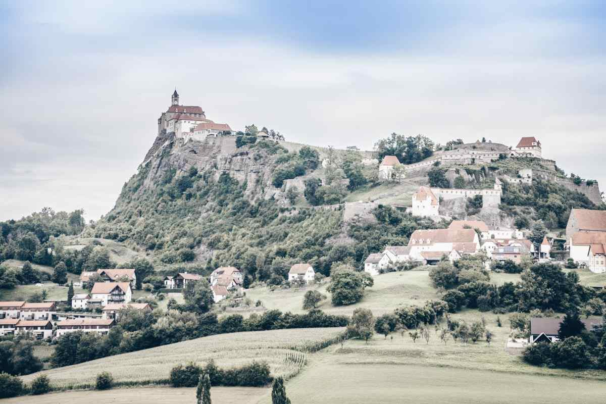 Beautiful places in Austria: The gorgeous Riegersburg Castle which sits atop a steep crag of volcanic basalt