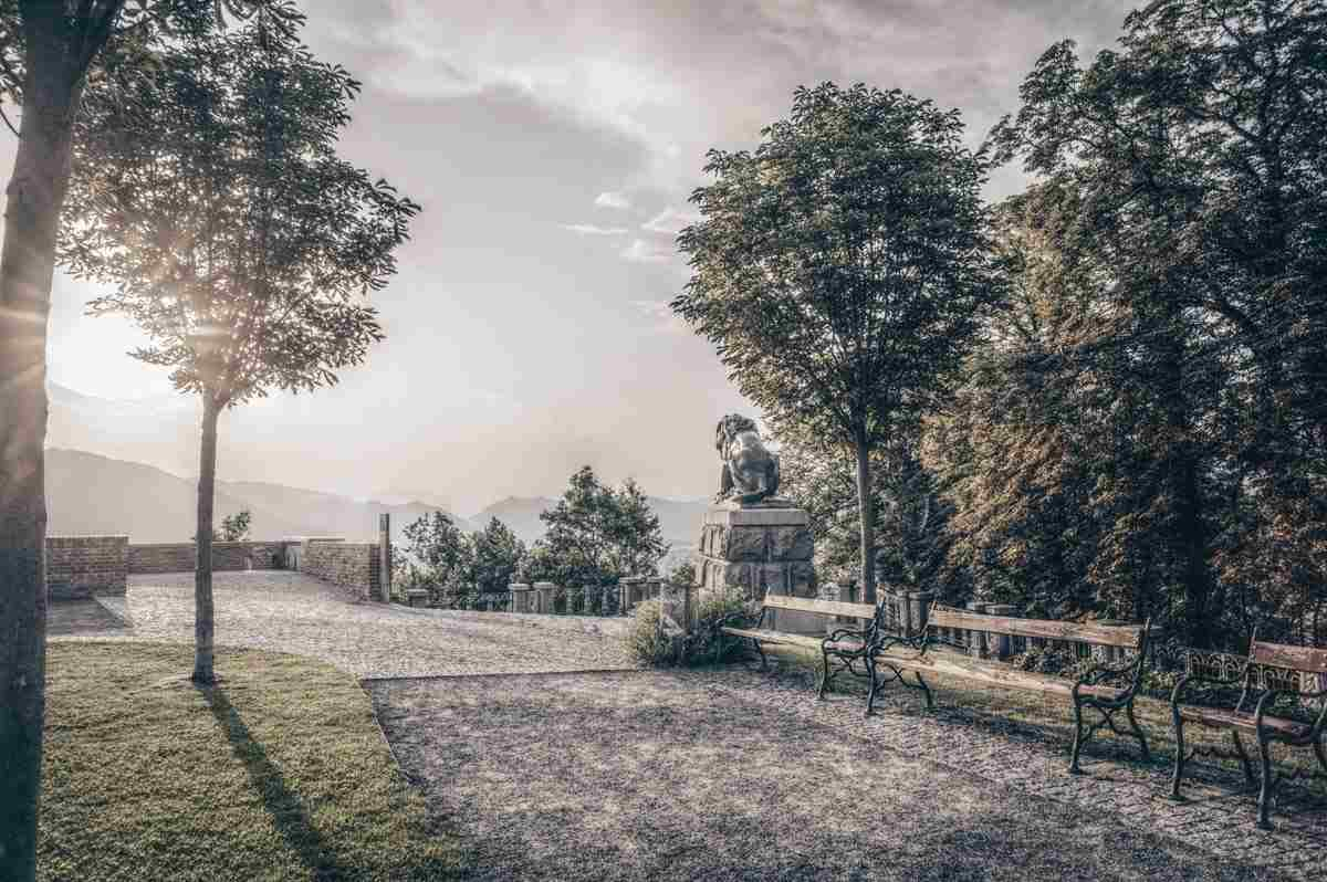 Places to see in Graz: the lush patch of wooded parkland on Schlossberg