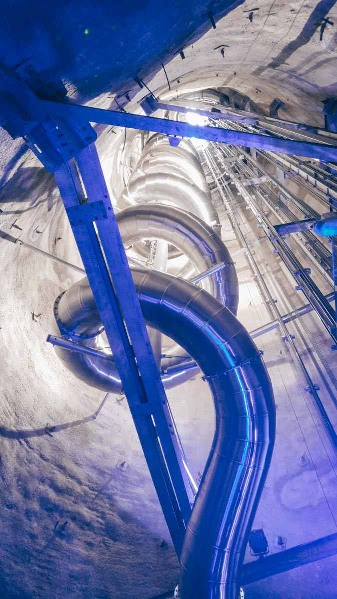 Graz attractions: The coiled slide in Schlossberg, the tallest underground slide in the world