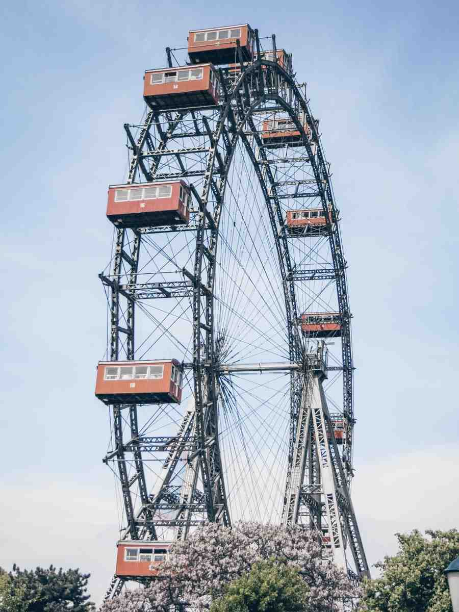 The iconic Giant Ferris Wheel (Wiener Riesenrad) at the Prater in Vienna