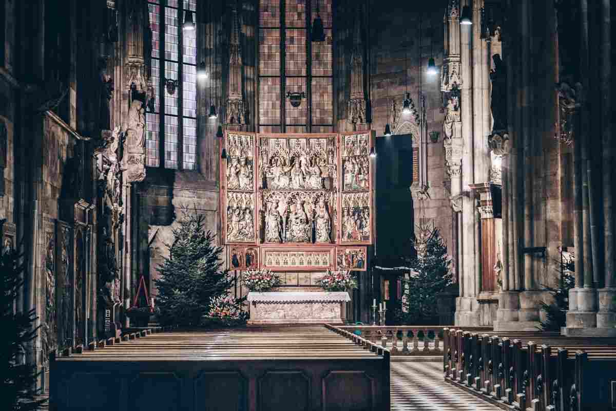 Richly painted and gilded Wiener Neustadt Altar of St. Stephen's Cathedral in Vienna