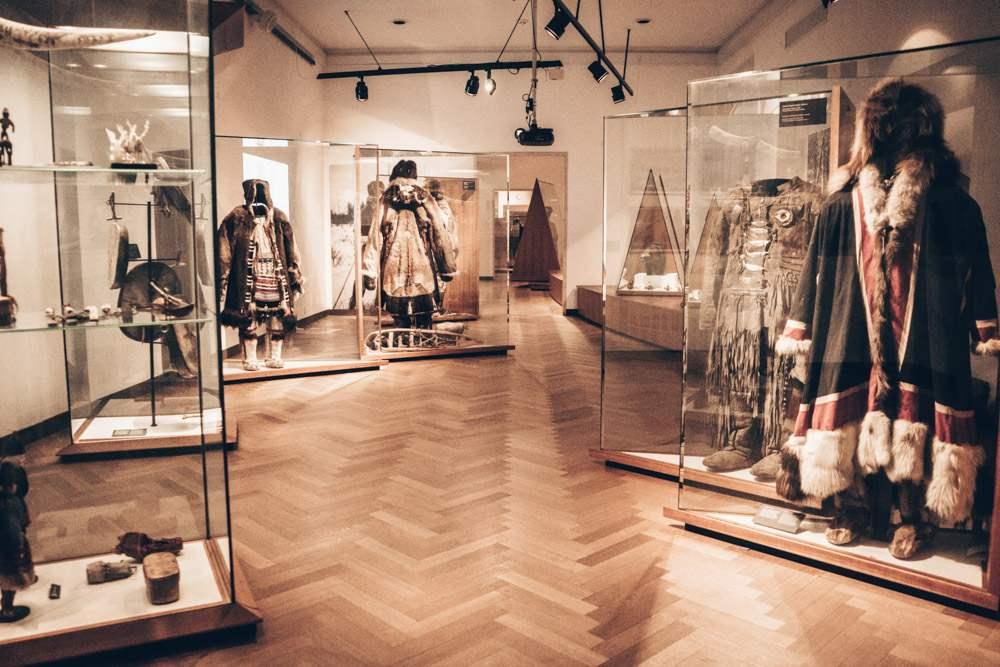 Copenhagen sightseeing: Eskimo attire on display at the Danish National Museum