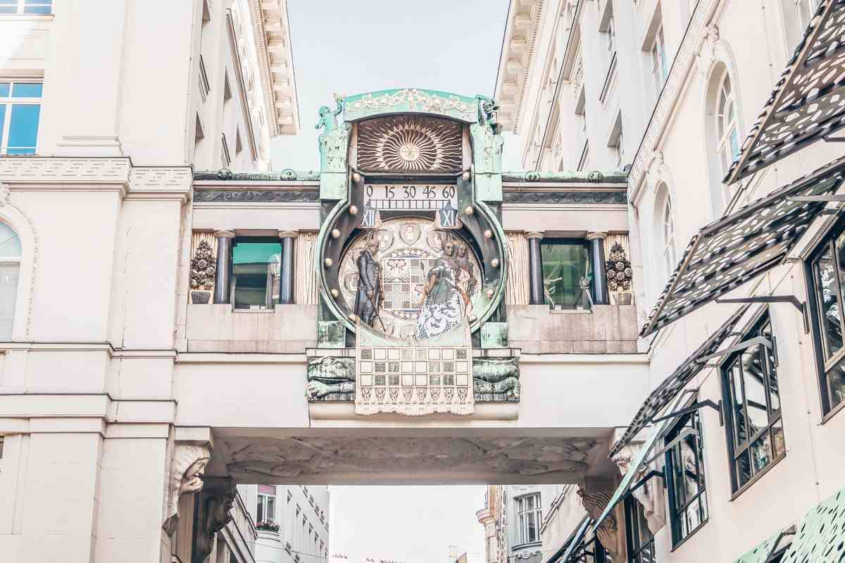Vienna attractions: The lovely Art Nouveau-style Anker Clock