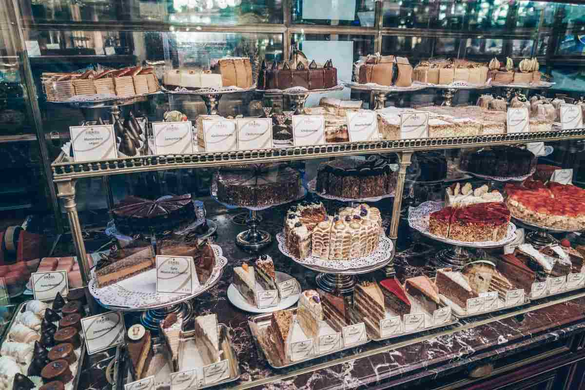 Assortment of mouth-watering cakes on display at Cafe Demel in Vienna. PC: Rostislav Ageev/shutterstock.com