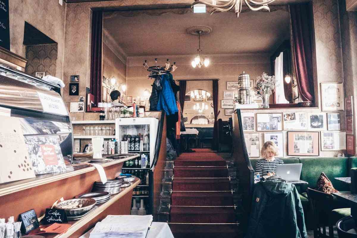 Vienna coffeehouses: Bohemian interior of the excellent Cafe Jelinek