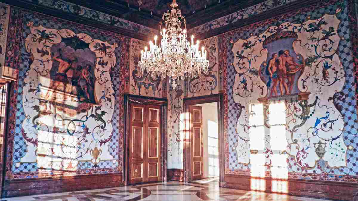 Fanciful floral murals of the Hall of Grotesques in Lower Belvedere Palace Vienna. PC: (Mario Krpan - Dreamstime.com